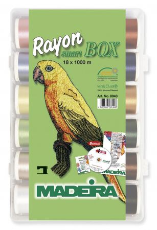Madeira Rayon Smartbox incl. CD mit 82 Stickmotiven