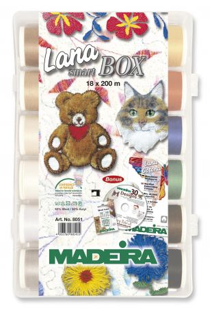 Madeira Lana Smartbox incl. CD mit 30 Stickmotiven