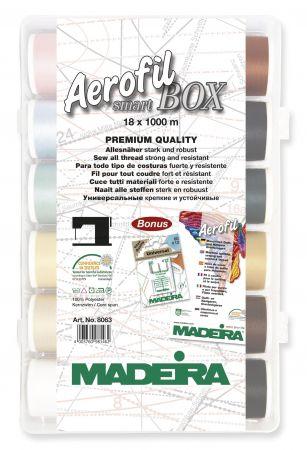 Madeira Aerofil Smartbox 18 x 1000m Nähgarn