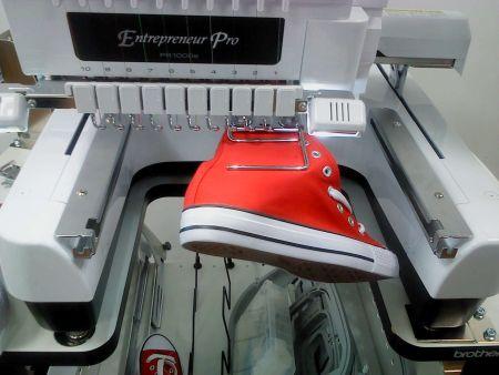 Schuh - Stickrahmen - Klemmrahmen links und rechts für Schuhe ab Größe 37